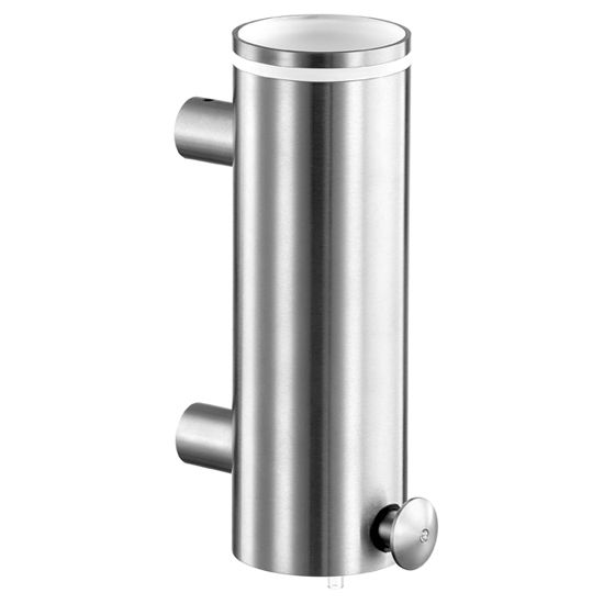 Cool Lines Cystal Steel Collection Stainless Steel Bathroom Wall Mounted Soap/Lotion Dispenser in Satin Finish