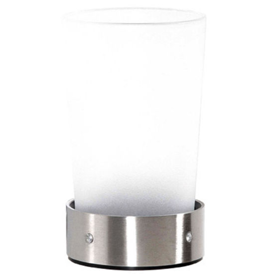Cool-Line Crystal Steel Collection Stainless Steel Bathroom Tumbler/Holder Counter Top