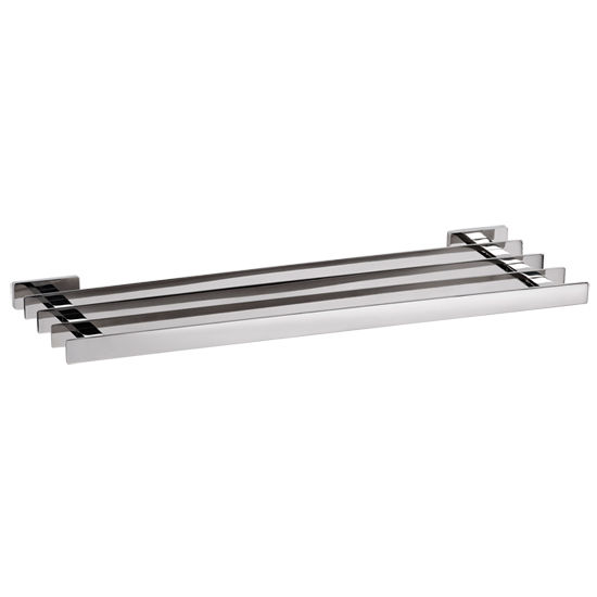 Cool Lines Penthouse Collection Stainless Steel Bathroom Towel Rack in Polished Finish