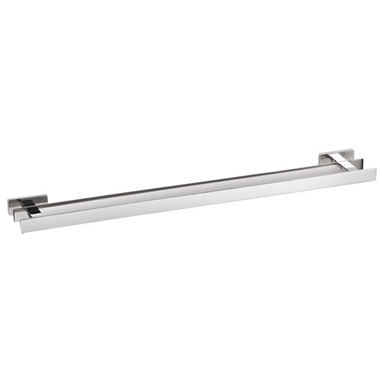 Cool Lines Penthouse Collection Stainless Steel 24'' Bathroom Double Towel Bar in Polished Finish