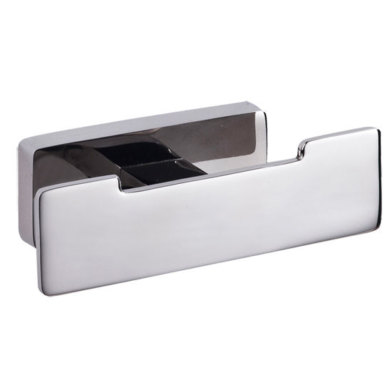 Cool Lines Penthouse Collection Stainless Steel Bathroom Double Hook in Polished Finish