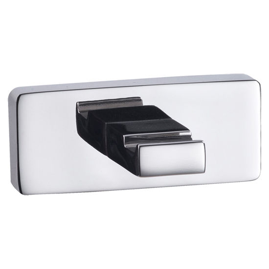 Cool Lines Penthouse Collection Stainless Steel Bathroom Single Hook in Polished Finish