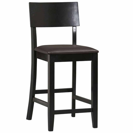 Linon Torino Collection Contemporary Stool, Black