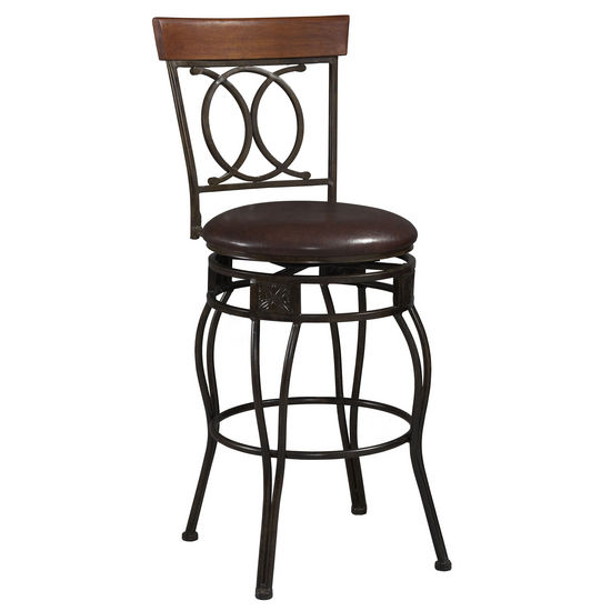 O & X Back Bar Stool