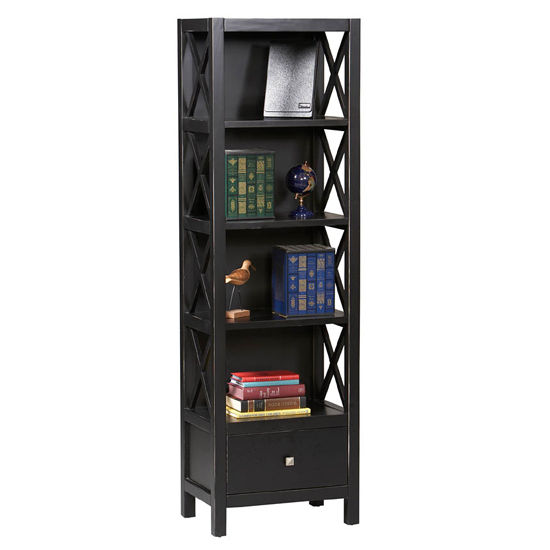 Linon Anna Narrow 5 Shelf Bookcase