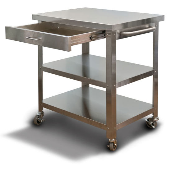Crosley Roots Rack Industrial Kitchen Cart: Kitchen Carts Stainless Steel