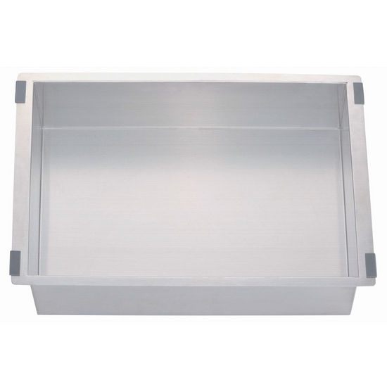 "Dawn Sinks Undermount Stainless Steel Tray, 20 gauge, Satin, 11""W x 16-3/4""D x 5-1/8""H"