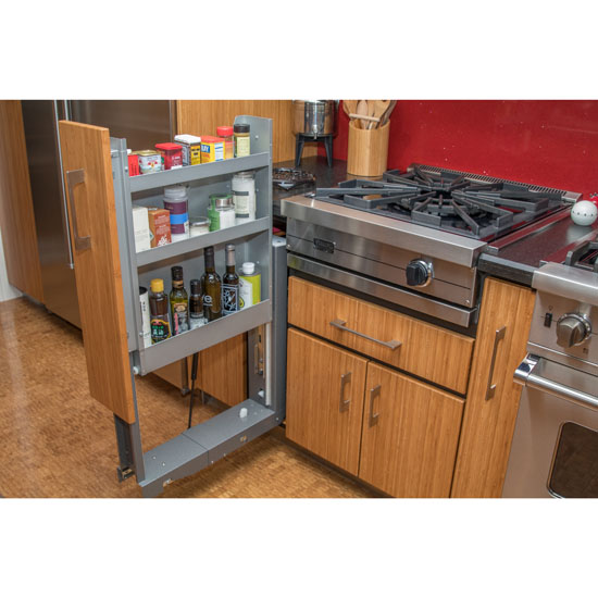 Sarah Check Hearth Cabinet: The Levitator Cabinet Pull Out Storage Component Comes