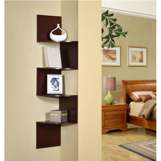 4D Concepts Hanging Corner Storage Shelving Unit