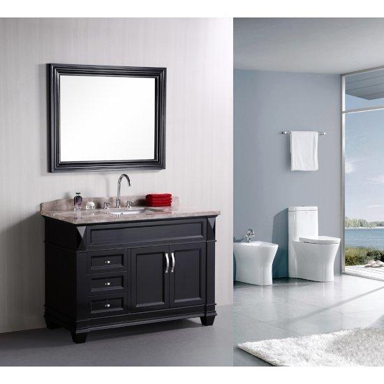 "Espresso 48"" Badal Top Vanity Set w/ Wall Mirror"