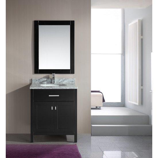 "Espresso 30"" Vanity Set w/ Wall Mirror"