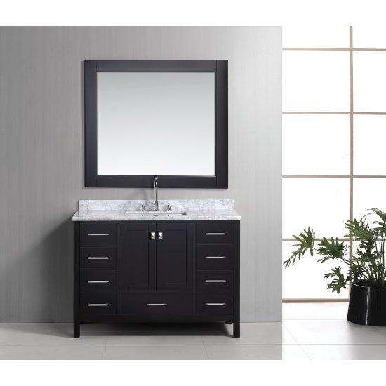"Espresso 48"" Carrera Top Vanity Set w/ Wall Mirror"