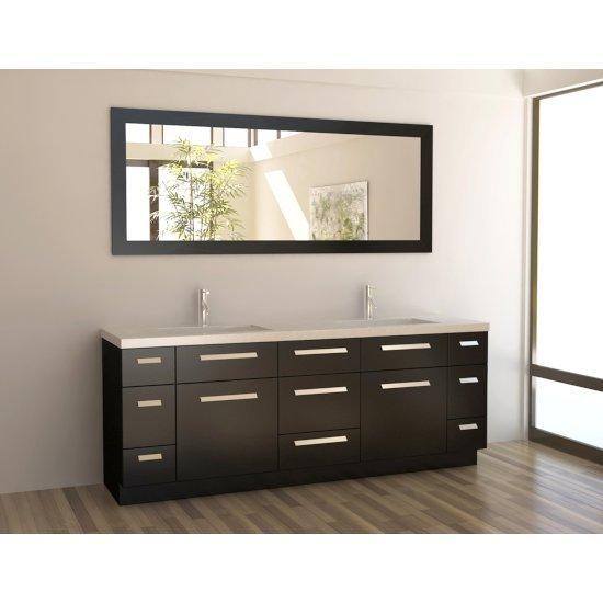 "Espresso 84"" Vanity Set w/ Wall Mirror"