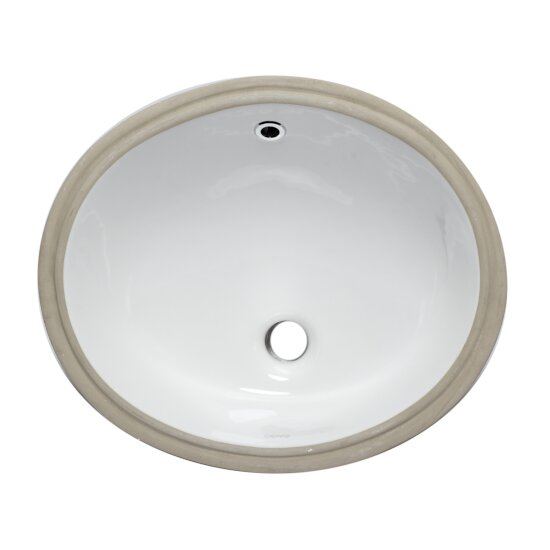 Ceramic 18'' W x 15'' D Undermount Oval Bathroom Sink in ...