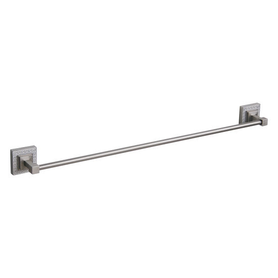 Echelon Home Greek Key Towel Bar, Brushed Satin Nickel finish