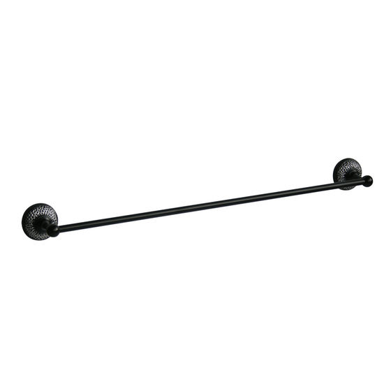 "Echelon Home - Hammer Towel Bar, 24"" W, Matt Black"