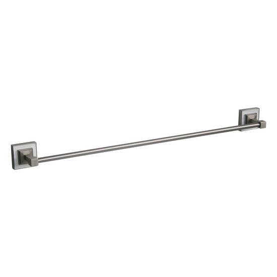 "Echelon Home Hutton 18"" Towel Bar, White/Brushed Nickel"