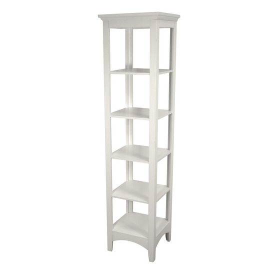 Echelon Home - Madison Avenue Linen Tower, White Finish