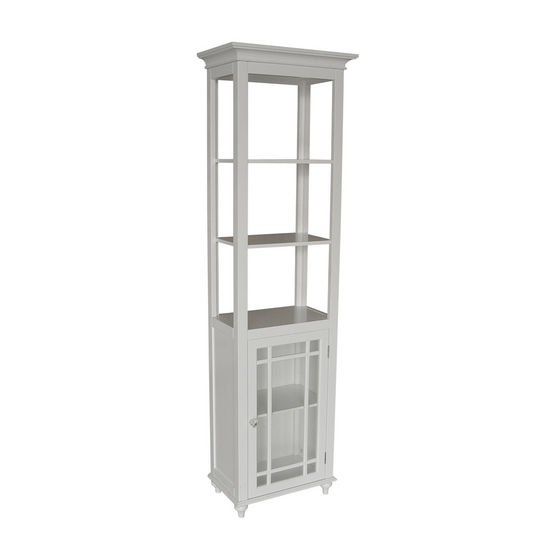Echelon Home - Neal Linen Tower, White Finish