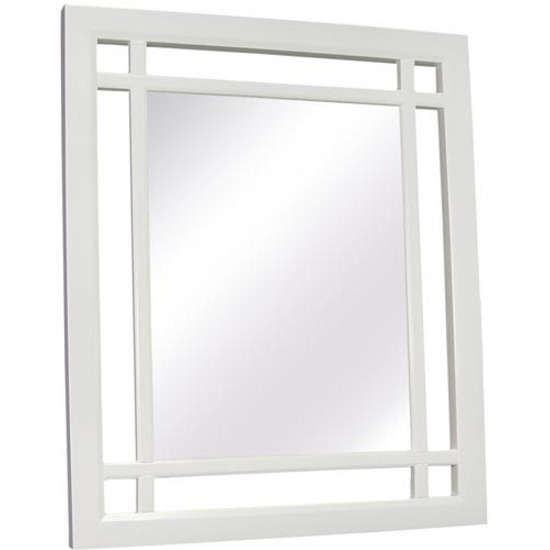White Neal Mirror by Echelon Home