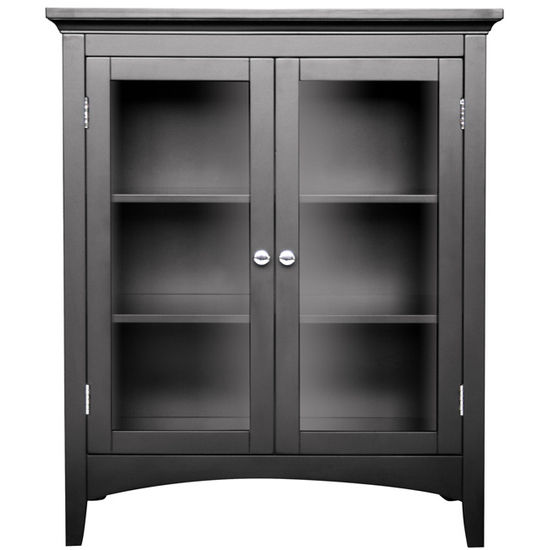 Echelon Home - Madison Avenue Double Floor Cabinet, Dark Espresso