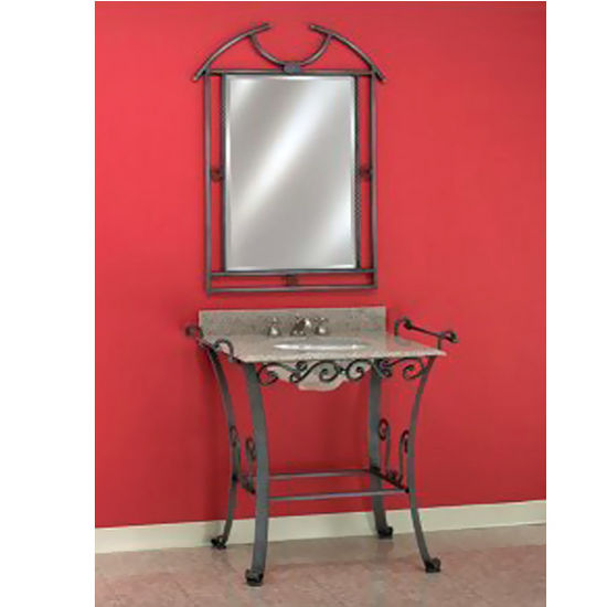 Empire Wrought Iron Console For Bathroom Vanity 105