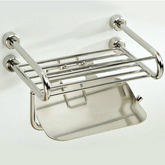Empire Tivoli Polished Wire Rack with Toilet Paper Holder and Lid