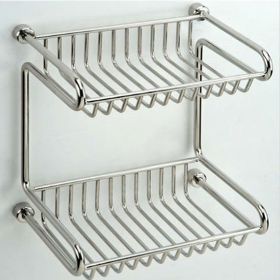 "Empire Tivoli Polished 2-Tier Shower Rack 7.9"" W x 5.6"" D x 8.6"" H"