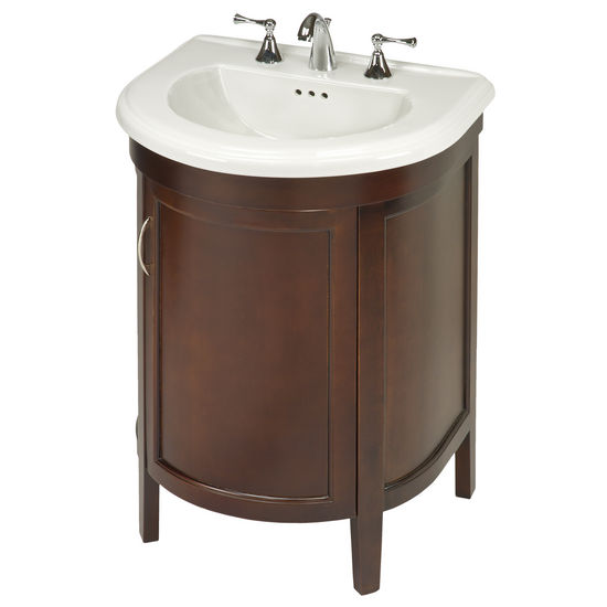 Empire Alexa One Door Semi-Round Vanity For Bolero Sink, Spice Cherry