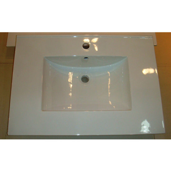 Empire Barcelona 2522 Ceramic Sink Top, 1 or 3 Hole, White