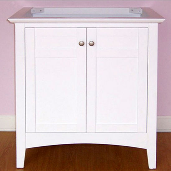 Empire Biltmore Solid Wood White Bathroom Vanity 30""