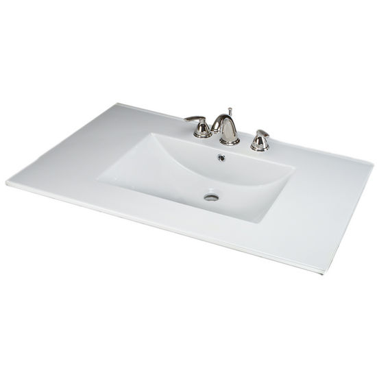 Empire Barcelona 3722 Ceramic Sink Top, 1 Or 3 Hole, White