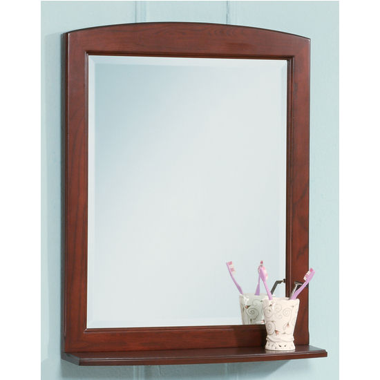 bathroom mirrors - windsor decorative mirror with shelfempire