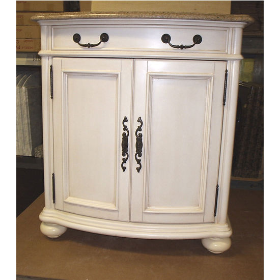 "Empire 30"" Madison Collection Antique White Vanity"