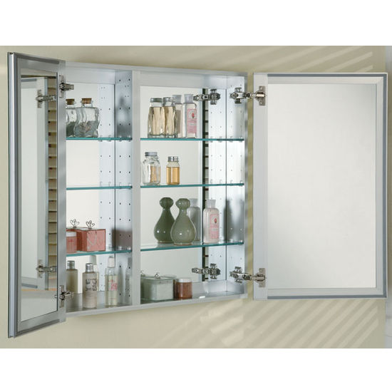 Bathroom Medicine Cabinets Recessed medicine-cabinets - broadway double door recessed medicine cabinet