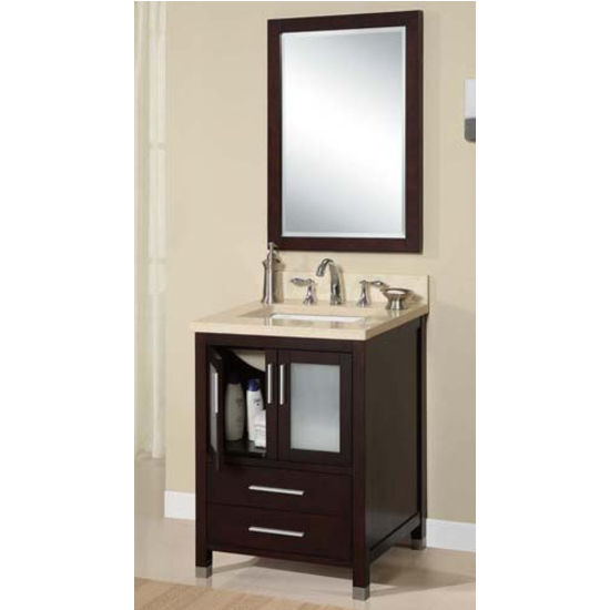 "Empire - 24"" Chelsea Vanity, Dark Cherry"