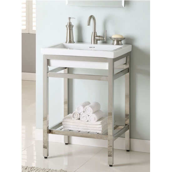 Bathroom Vanities Stainless Steel South Beach 24