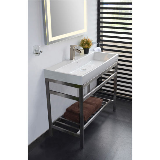 sink modern art in console view chrome legs gallery with vanity vintage for bathrooms and shelf consoles