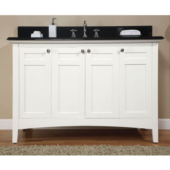 "Empire Biltmore 48"" Vanity, 48"" W x 21 1/2"" D x 33"" H, White"