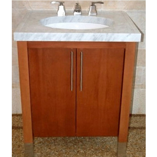"Empire Contempo 30"" Bathroom Vanity with Pecan Finish"