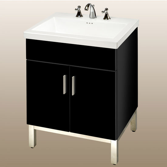 Bathroom Cabinets Black Gloss bathroom vanities, daytona 24'' vanity with 2 doors and polished