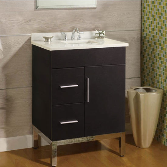 "Empire Daytona 24"" Vanity for 2522 Stone Countertops with 1 Door & 2 Drawers"
