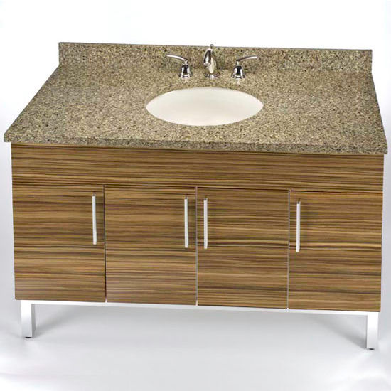 "Empire Daytona 48"" Vanity for 4922 Single Bowl Stone Countertops with 4 Doors"