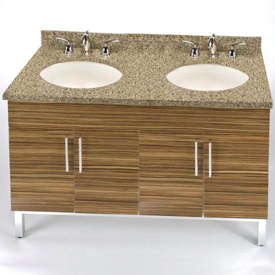 "Empire Daytona 48"" Vanity for 4922 Double Bowl Stone Countertops with 4 Doors"