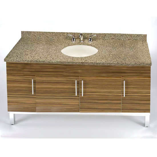 "Empire Daytona 60"" Vanity for Single Bowl Cut-Out Stone Countertops with 4 Doors"