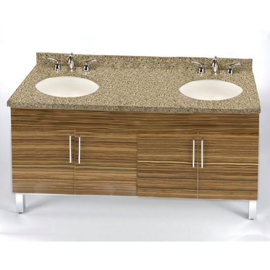 "Empire Daytona 60"" Vanity for 6122 Double Cut-Out Stone Countertops with 4 Doors"