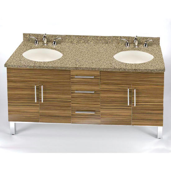 "Empire Daytona 60"" Vanity for 6122 Double Cut-Out Stone Countertops with 4 Doors & 3 Drawers"