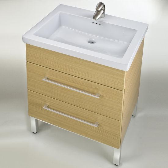 """Empire Fiorella 24'' Ceramic Sink, 1 Hole, 23-5/8"""" W x 18-1/8"""" D x 7-1/8"""" H, White"""