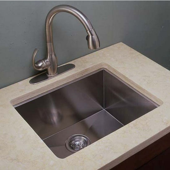 wide kitchen sink ei gs2218 22 wide kitchen sink 18 zero radius 1102