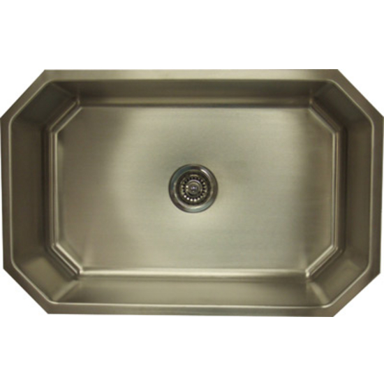 Superior Empire Single Bowl Stainless Steel Octagon Sink